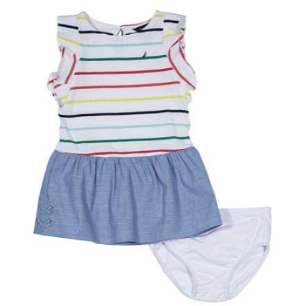 שמלת NAUTICA לילדות פסים
