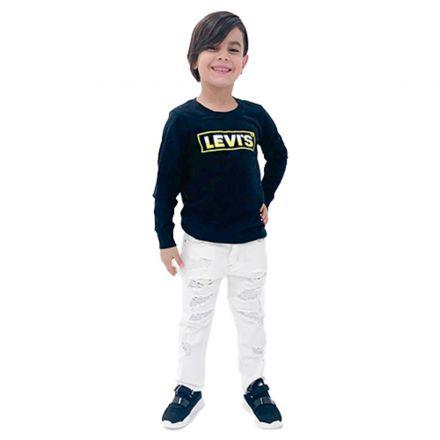 ג'ינס ORO לילדים יוניסקס קרעים