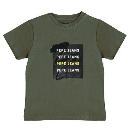 חולצת PEPE JEANS לילדים לוגו באמצע