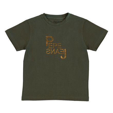 חולצת PEPE JEANS לוגו זהב לילדים