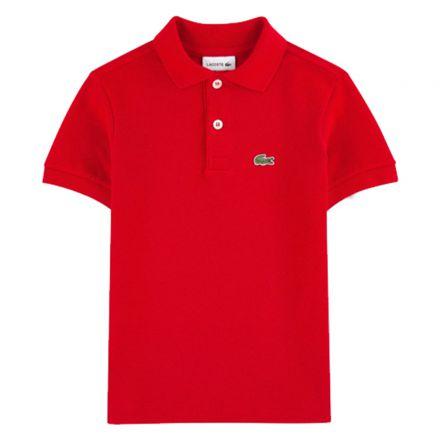 חולצת LACOSTE לילדים אדום