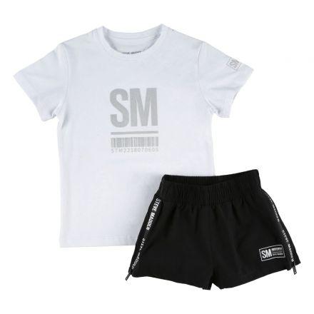 חליפת טריקו כותנה עם מכנס ניילון  STEVE MADDEN לילדות