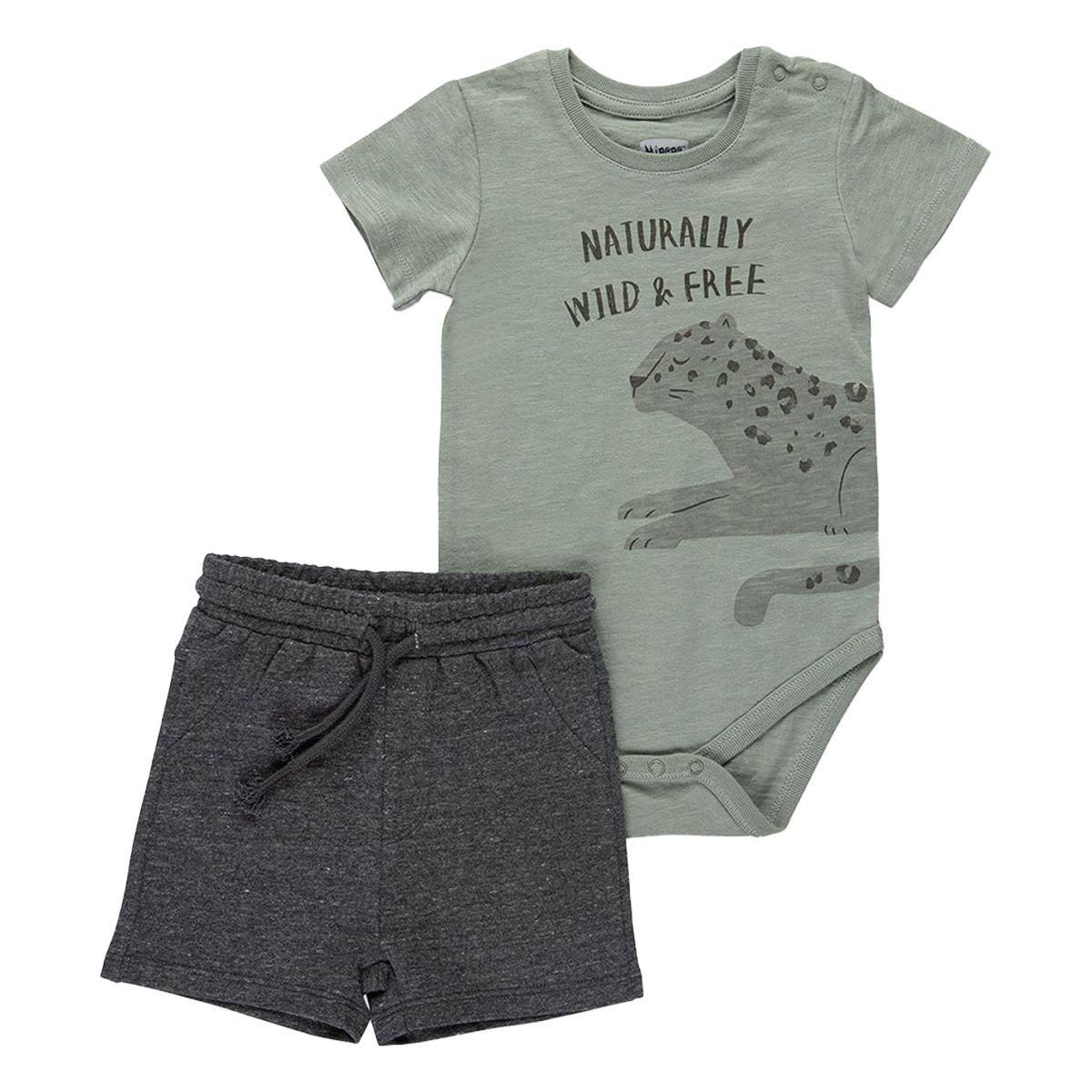 סט בגד גוף ומכנסייםMINENE לתינוקות