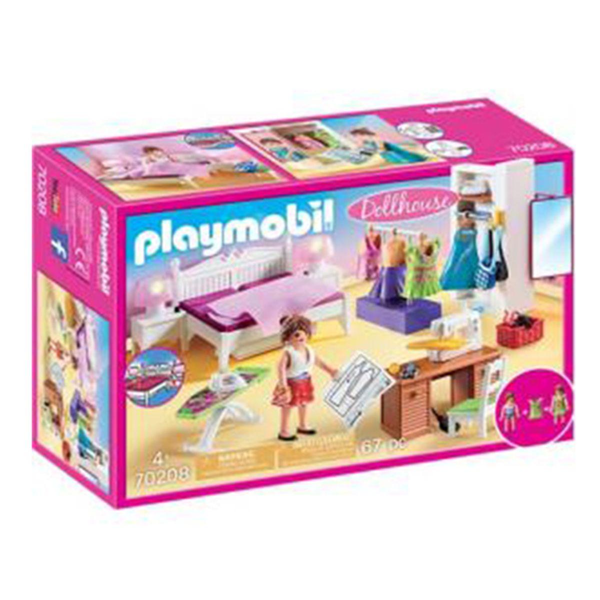 בית בובות: חדר שינה הורים ופינת תפירה (גילאים +4) Playmobil 70208